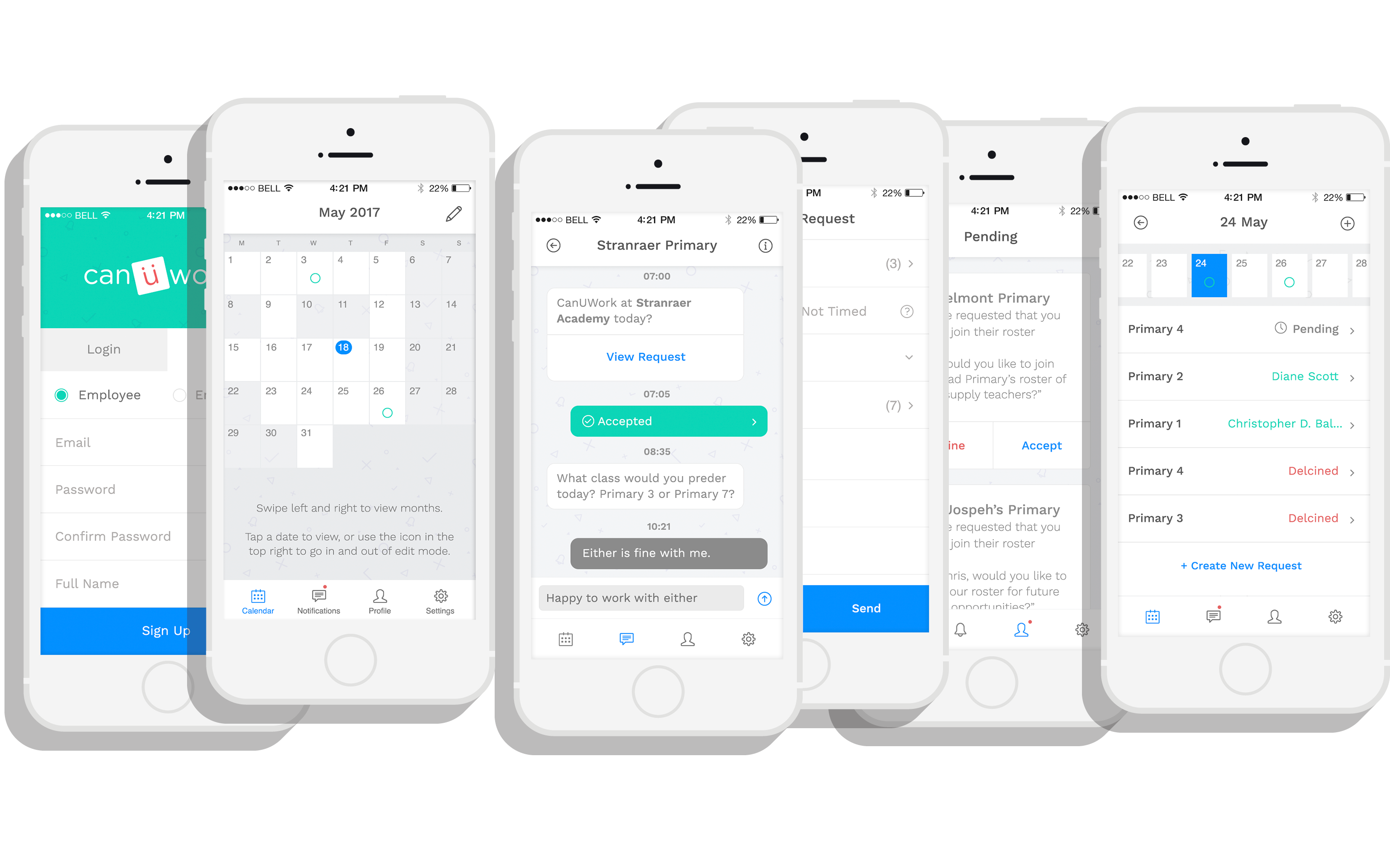 canüwork: Scheduling App – Papertank